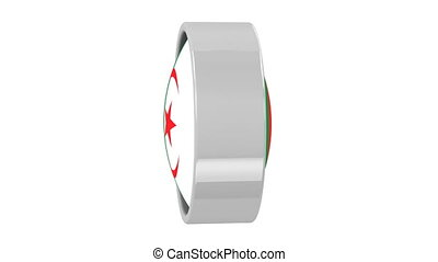 Algerian flag with circular frame. Part of a series.