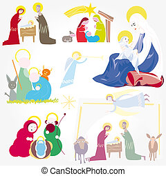Illustration Christmas Christ - Illustration vector. Star of...