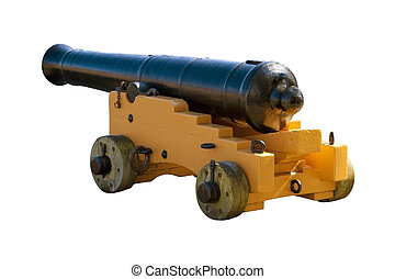 Ships cannon - Ancient cannon from an old sailing ship