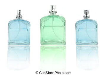 Perfume trio - low level angle capturing three perfume...
