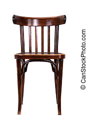 bent-wood chair - Brown bent-wood chair isolated on white...