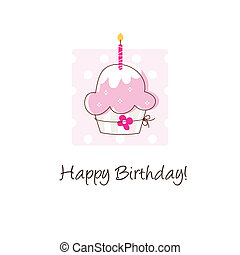 Birthday card - Cute card with copy space