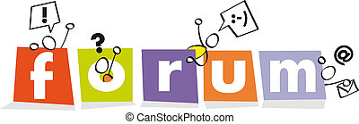 funny symbol for a forum - buton letters for a forum website