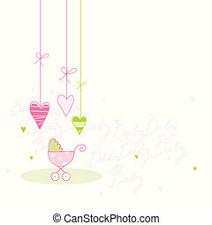 Baby shower card - Cute card with copy space