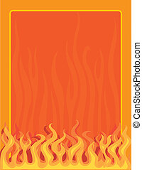 Fire Border - A border or frame featuring fire and flames...