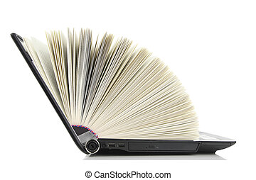 Laptop computer as a Book