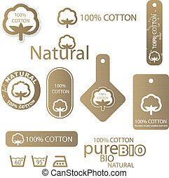 Cotton labels - Set of cotton labels