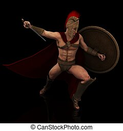spartan 138 - a handsome male spartan in his beautiful...