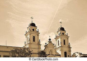 minsk, 大教堂, 深棕色,  belarus, 基督教徒