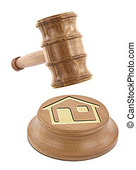 Home design on an auction gavel