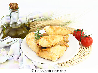 Homemade pastry filled with cheese