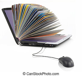 Online library - Laptop computer as a Book