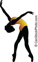 Dance girl ballet silhouettes