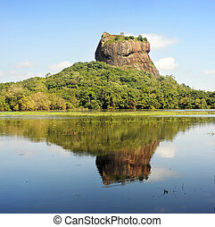 Sigiriya rock - Sigiriya (Lion's rock) is an ancient rock...