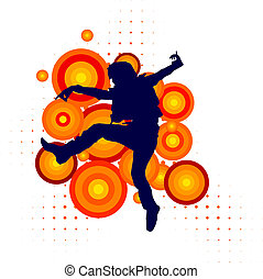Vector silhouette of a dancer