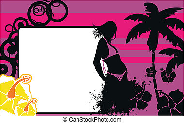 tropical hawaii girl background5 - tropical hawaii girl...