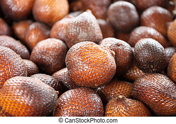 Salak fruit of bali food stock foto