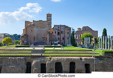 Italy. Rome. A kind on the Forum