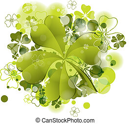 St Patricks background with clover, vector, eps10 - St...