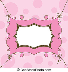 Template cards for the girl, vector