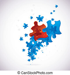 Abstract puzzle background, vector, eps10