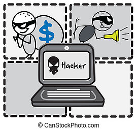 hacker thief money vector image