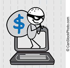 hacker thief Vector image