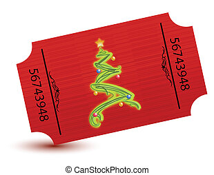 special ticket for the christmas