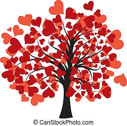 Valentines tree, vector
