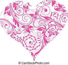 Valentines Day, heart, background, vector illustration
