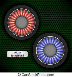 Gas background for your design. Vector ilustration