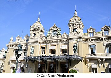 Montecarlo Casino - famous Big casino and garden in...