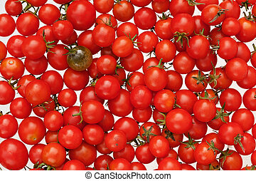 Another Green and Red Cherry tomato Background A cherry...