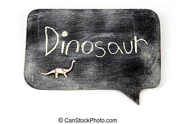 dinossauro, chalkboard