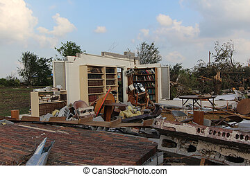 Destroyed Church - EF5 Tornado Damage on a small church in...