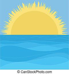 Sea, sky and sun
