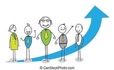 teamwork up-chart together vector image