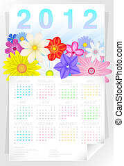 2012 Floral Year Calendar