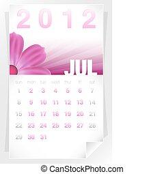 2012 Floral July Calendar