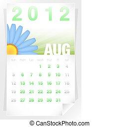 2012 Floral August Calendar