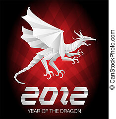 Origami year of the dragon 2012