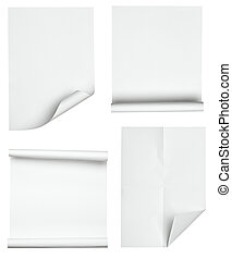 white paper with curled edge