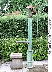 Old hand well - Old hand pump water well