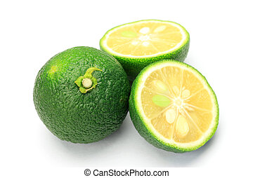 citron - I cut citron and took it in a white background