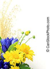 chrysanthemum and pampas grass - I attach a Japanese pampas...