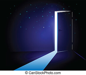 Conceptual Open Door - Conceptual open door to the light...