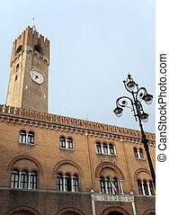 Treviso Veneto, Italy - Historic palace with tower