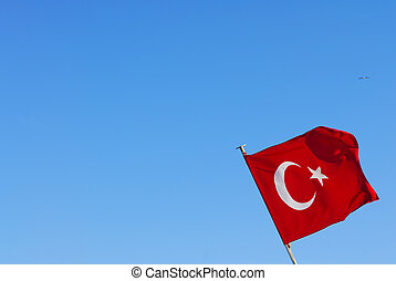 Turkish flag - a turkish flag in the sky
