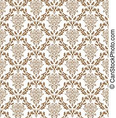 seamless damask pattern - Damask seamless vector pattern....
