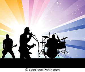 Rock group singers theme Vector illustration for design use...